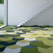 Moquette Verde Vorwerk Textiles Dart Diamond Quer