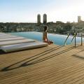 Pavimento esterno decking piscina hotel