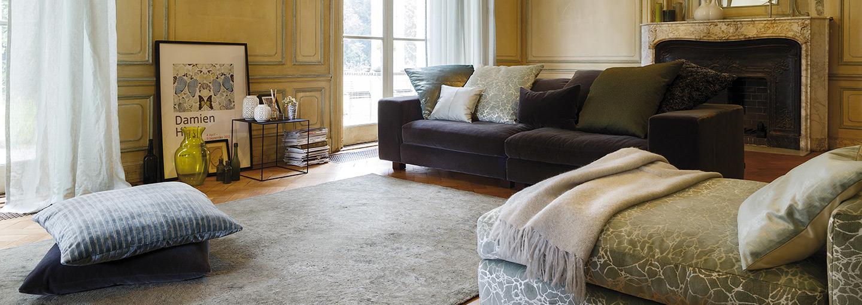 Tende, cuscini decorativi, plaid, Fischbacher Fabric Vogue Marble Persiac
