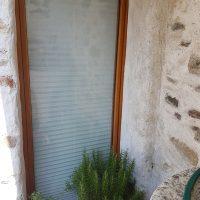 Tende plissettate su porta finestra